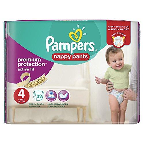 Preisvergleich Produktbild Pampers Premium Active Fit Windel-Hose, 8–14kg–Größe 4, 3Stück (insgesamt 96Windeln)