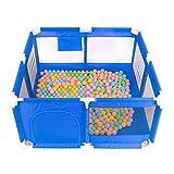 Laufgitter 8-Panel-Playpens Tragbarer Mesh-Sicherheitszaun Für Kleinkinder Und Kleinkind Indoor-Spielcenter, 66 cm Hoch (Farbe : Blau)