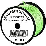 LOT-MAURERSCHNUR 100 m x Ø 2,0 mm GRÜN-FLUORESZIEREND