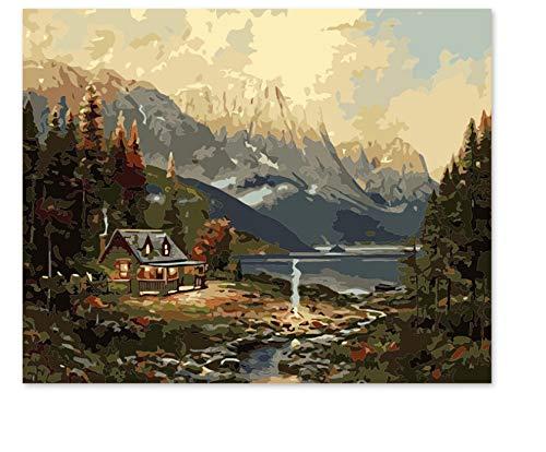YuHanWei Malen Nach Zahlen Kunst Wohnkultur Europäische Landschaftsmalerei Öl Thomas Hand Färbung -