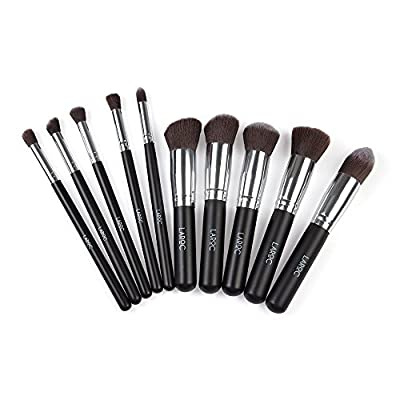 LaRoc ® 10 Piece Kabuki Makeup Brush Cosmetic Set Kit Eyeshadow Foundation Powder