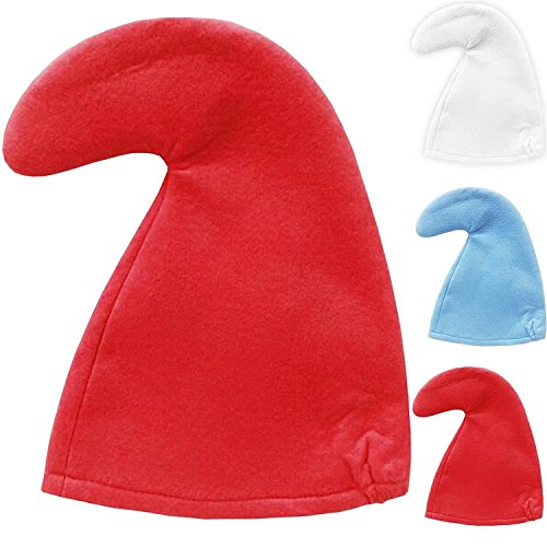 Smurf Adult Kostüm - Schlumpf Mütze Zwerg Fancy Dress Kinder