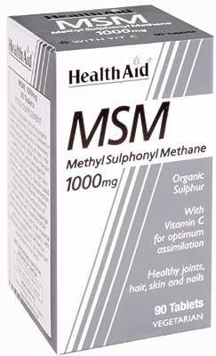 HealthAid MSM 1000mg - 90 Vegetarian Tablets by HealthAid