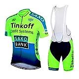 Wulibike Maillot Cyclisme Homme Manche Courte Tenue Velo Route Equipe Pro+Cuissard Court avec Gel 3D Rembourré
