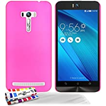 Muzzano F3164321 - Funda para ASUS ZenFone Selfie / ZD551KL + 3 protecciones de pantalla, color rosa caramelo