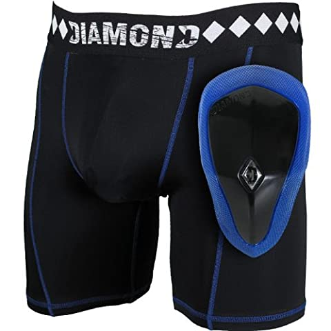 Diamant MMA Athletic Tasse l'Aine Protection d'écran & Short de compression avec système intégré Suspensoir XXL noir