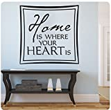 Wandaufkleber Wall Sticker quotes Home is where your heart is Wall Decal Sticker Art Mural Home Decor Quote