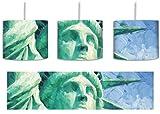 Freiheitsstatue Zeichnung inkl. Lampenfassung E27, Lampe mit Motivdruck, tolle Deckenlampe, Hängelampe, Pendelleuchte - Durchmesser 30cm - Dekoration mit Licht ideal für Wohnzimmer, Kinderzimmer, Schlafzimmer