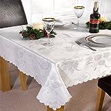 Linens Limited Angelica - Tischläufer für Weihnachten - Weiß - 33 x 229 cm