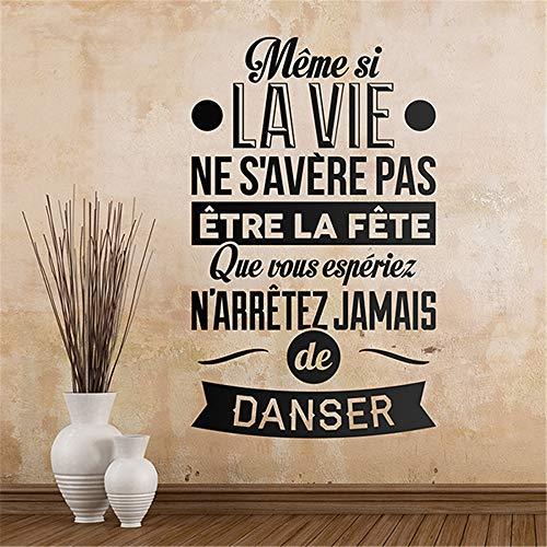mer Zitat Wandaufkleber, auch wenn sich das Leben nicht als Wohnzimmer Schlafzimmer herausstellt ()