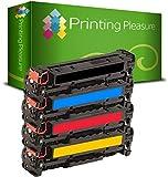 Printing Pleasure 4 Toner Kompatibel für HP Laserjet Pro 200 Color M251 n / M251 NW/MFP M276 n/MFP M276 NW / CF210X / CF211A / CF213A / CF212A / 131X / 131A