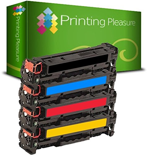 Printing Pleasure 4 Toner kompatibel für Canon i-SENSYS LBP5050 LBP5050n LBP7100cn LBP7110Cw MF628Cw MF8030Cn MF8040Cn MF8050Cn MF8080Cw MF8230Cn MF8280Cw | CRG-716 CRG-731 125A 128A 131A 131X (Tonerkassette 131 Hp)