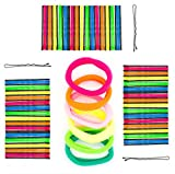 144 Colourful 6 Hair Bobbles Set of 150, Bobby Pins/Kirby Grips