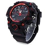 Leopard Shop SKMEI 1155Herren LED Digital Quarz Armbanduhr Dual Time Tag Alarm Licht Wasser Widerstand Armbanduhr Rot