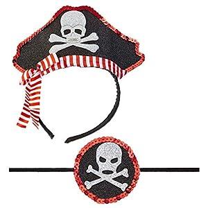 WIDMANN 04163?Mini Sombrero de Pirata con Ojo Tapa, Otras Juguetes