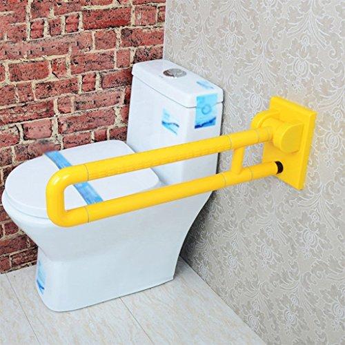 Barras de seguridad Más grueso Barrera libre de brazos plegables Ancianos Handrail minusválidos Toilet Toilet Bathroom Nylon Handrail ( Color : Amarillo )