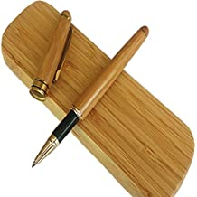 Rey vintage Firma Penna Custodia con bambù naturale artigianale scatola