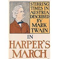 Vintage fine art Mark Twain Mescolando volte in Austria from Harper Magazine Edward Penfield 250gsm di arte della copertura lucido A3riproduzione