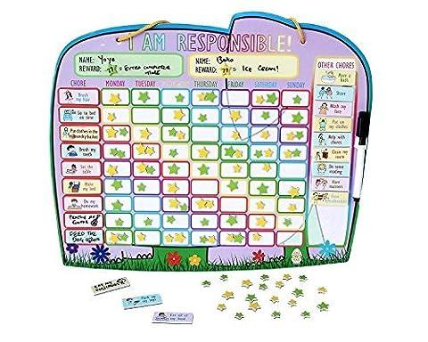 Premium Kinder magnetisch Belohnung Sternkarte–bis zu zwei Kinder New yoyoboko ele-fun Sternkarte