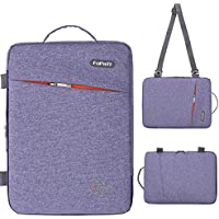 "fopati 11,6 – 12 inch Tablet Laptop Sleeve Case Vertical funda con asa y correa para el hombro bolso bandolera para MacBook Air 11 12/Surface Pro 4 3/HP Asus Dell Acer Samsung 11.6 ""ultrabook azul azul 14 inch"