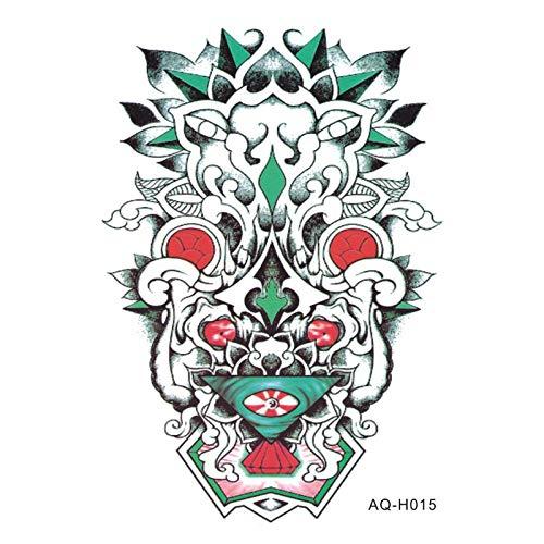 Temporäre Tattoo-Aufkleber Große Kunst Arm Ärmel Temporäre Tätowierung Aufkleber Coole Edelstein Maske Arm Kunst Tattoo Männliche Halbe Totem Gefälschte Tätowierung Für Männer 4 Stück