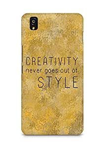 AMEZ creativity never goes out of style Back Cover For OnePlus X