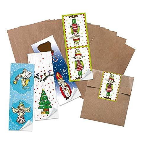 100 Stück kleine braune Papiertüten Geschenktüten Kraftpapier in 13 x 18 + 2 cm (Lasche) Papier-Flachbeutel als Verpackung für Mitgebsel give-aways Gastgeschenke Produkte zum selber-machen