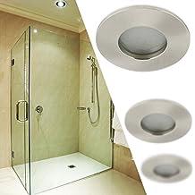 K 5 IP65 Wasserfest Badezimmer Einbaustrahler Einbauspot GU10 Gu5.3 12V  230V Farbe Chrom