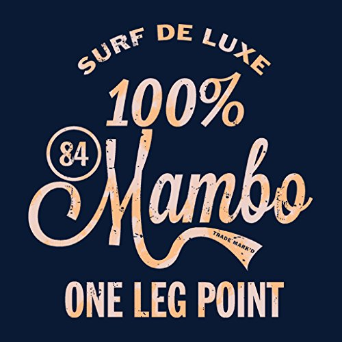 Mambo One Hundred Percent Surf Deluxe Orange Women's Sweatshirt Navy blue