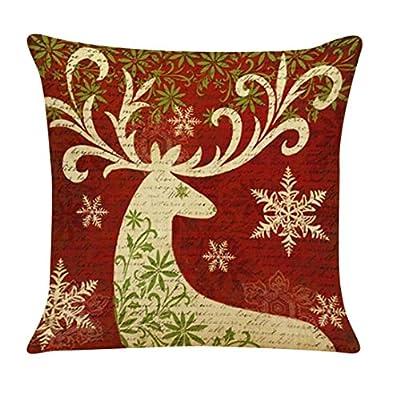 Luckycat Weihnachten Kissen Weihnachten Baumwolle Leinen Kissenbezug Werfen Taille Kissenbezug Sofa Home Decor von Luckycat auf Gartenmöbel von Du und Dein Garten