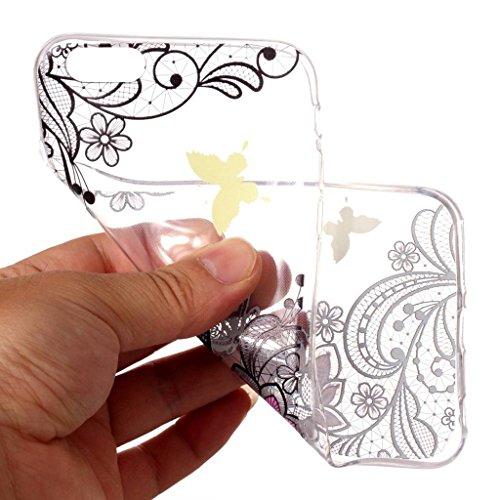 Hülle für Apple iPhone 6S Plus / 6 Plus , IJIA Transparente Einhorn Wolken TPU Weich Silikon Stoßkasten Cover Handyhülle Schutzhülle Handytasche Schale Case Tasche für Apple iPhone 6S Plus / 6 Plus (5 XY14