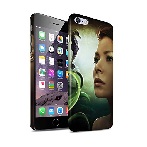 Officiel Elena Dudina Coque / Clipser Brillant Etui pour Apple iPhone 6S+/Plus / Sous-Marin Design / Agua de Vida Collection Mer Profonde/Hippocampe