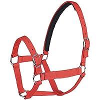 Breastplate Myyxt Piel Ajustable de una Sola Capa PP Webbing Productos y Hebilla de Aleación, Rojo, l
