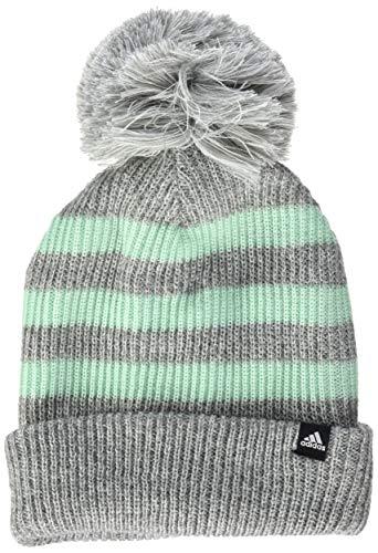 adidas Fat Stripes Gorro, otoño/Invierno, Infantil, Color Core Heather/Clear Mint/White, tamaño Talla única Hombre