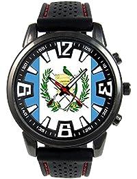 Guatemala Reloj para hombre con correa de silicona