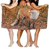 "rongxincailiaoke Strandtücher Handtücher Bath Towel Soft Big Beach Towel 31""x 51"" Unique Soft Fox Wild Animal Pattern Design -"