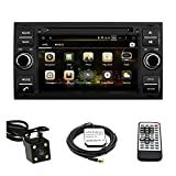 tltek® Auto GPS Navigation System für Ford Focus/Ford C-Max 2005–2007/FORD TRANSIT CONNECT 2010–201217,8cm HD 1024* 600muti-touch Display Quad-Core Android 4.4DVD player + Backup Kamera + US Karte