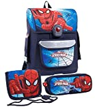 Spiderman Jungen Schulranzen Set - marine blau -