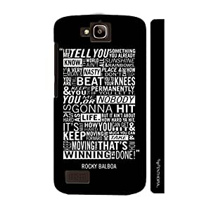 Huawei Honor Holly ROCKYS SPEECH designer mobile hard shell case by Enthopia