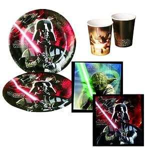Star Wars Partygeschirr Party Set Servietten Becher Teller 36 teilig Kindergeburtstag Deko