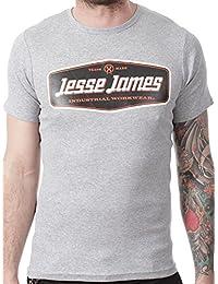 Camiseta Jesse James Sturdy Logo Gris