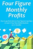 Four Figure Monthly Profits: How to go from Zero to Four Figures in 90 Days or Less In Your New Online Business (2 in 1 bundle) (English Edition)