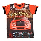 Romano Boys Red Cotton T-Shirt