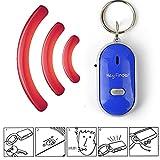 Bloomma, Schlüsselfinder / LED-Schlüsselanhänger / Pfeife, Geräuschsteuerung mit Ein-/Ausschalter, Anti-Verlust-Alarm-Tracker für Familie / Zuhause / Kinder / Senioren blau