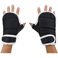 1par Guantes de Boxeo Guantes de Entrenamiento de Sacos de Boxeo Kickboxing Guantes Combate Medio Dedo
