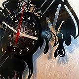 Roter Hahn 112 Hochwertige Feuerwehr Vynil Wanduhr Uhr aus Echter Schallplatte / 30cm / Geräucharm Vergleich