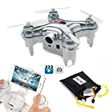 REALACC Cheerson CX-10WD-TX Mini Wifi FPV Cuadricóptero Con Cámara High Hold Mode 2.4G 6-axis RC Nano Teledirigido Quadcopter RTF Modo 2 (Gris)