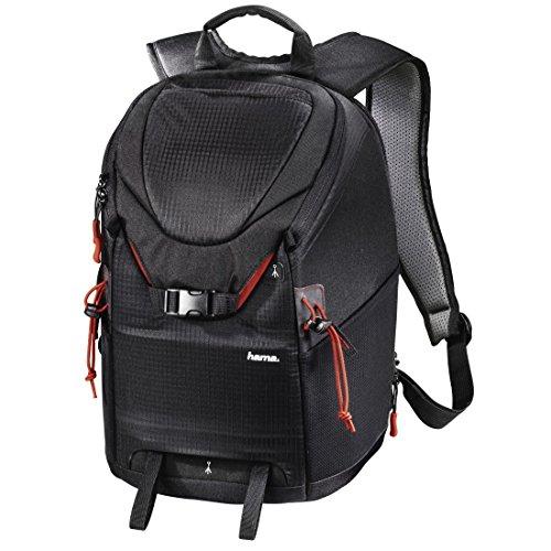 Hama Kamerarucksack für DSLR Kamera und Ausrüstung (Fotorucksack, 15 L, Schnellzugriff, Tabletfach, Regenschutz, Stativhalterung, handgepäcktauglich) schwarz (Foto-ausrüstung)