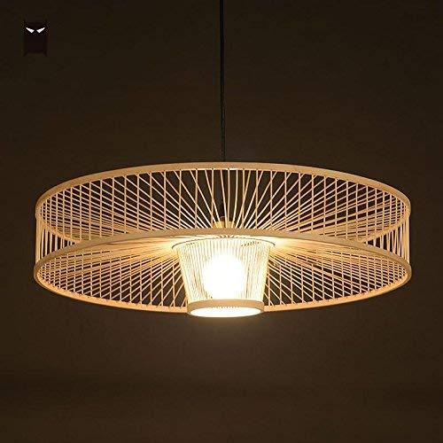 ♪ Lámpara de suspensión de Mimbre de bambú de la Mano ...