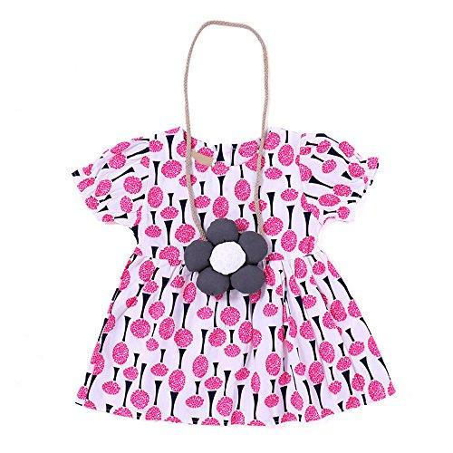 JUTOO Kleinkind Kinder Baby Mädchen Baum Print Kleid Kurzarm Party Prinzessin Kleider (Hot Pink,100)